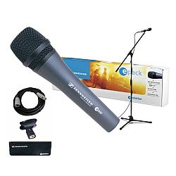 Sennheiser E-PACK e 835 Microphone Bundle (incl. boom stand, XLR cable, microphone and pouch)