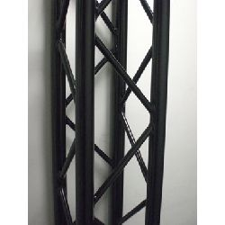 Global Truss SQ-4112-BLK 6.56ft. (2.0m) Black Powder Coated Square Truss Segment