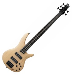 Ibanez SR605-NTF 5 String Electric Bass - Natural Finish (Discontinued Clearance)