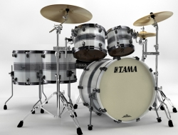 Tama BG42ZS-SSR Starclassic Bubinga Drum Shell kit Silver Snow Racing Stripe