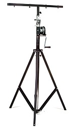 Global Truss ST-132 Medium Duty Crank Stage Light Stand with T Bar and leveling leg