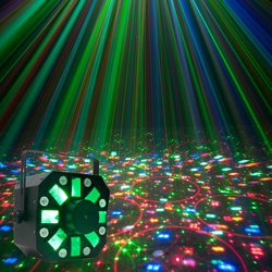 American DJ STINGER  3-FX-In-1 Moonflower, Strobe, and Laser Effect