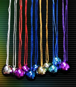 magic light disco ball necklaces pack of 12 - Disco Party Decorations
