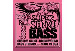 Ernie Ball 2834EB Super Slinky Bass Guitar Strings 45-100
