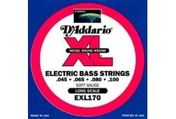 D'Addario EXL170 Regular Light 4 String Bass Guitar Strings