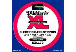 D'Addario EXL170-S Regular Light Short Scale Bass Guitar Strings