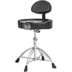 Mapex MPX-T775 Saddle Top Drum Throne with Back Rest and 4 Double Braced Legs