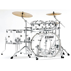 Tama VI62RZSCI Silverstar Mirage Seamless Acrylic 6-piece Limited Edition Drum Kit, Crystal Ice (Discontinued Clearance)