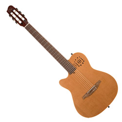 Godin 035878 MultiAc Nylon Encore Natural SG Acoustic Electric 6 string guitar LH with bag