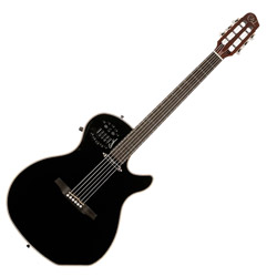 Godin 031245 Multiac Spectrum Black HG 6 String Acoustic Electric Guitar with bag