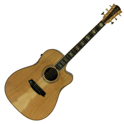 Cole Clark CCFL3EC-COLB Dreadnought Guitar w/ Pickup & Ctwy-Cedar of Leb/Rosewood