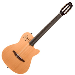 Godin 035045 MultiAc Nylon Encore Natural SG Acoustic Electric 6 string guitar with bag