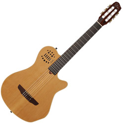 Godin 012817 Multiac Grand Concert Natural HG 6 string Acoustic Electric Guitar with bag