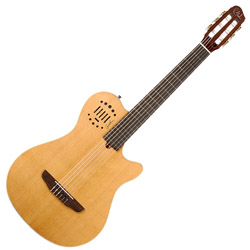 Godin 031498 Multiac Grand Concert Duet Ambiance Natural HG 6 string Acoustic Electric Guitar with bag