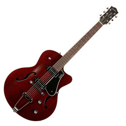 Godin 033560 5th Avenue CW Kingpin II Burgundy 6 string Hollow Body Guitar