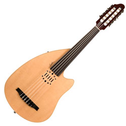 Godin 035014 Multi Oud Ambiance Nylon Natural HG Fretless 11 String Acoustic Electric Guitar