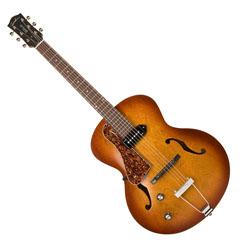 Godin 037728 5th Avenue Arch Top Kingpin P90 Cognac Burst 6 string Hollow Body Guitar Left Hand