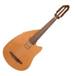 Godin 037414 Multi Oud Encore Nylon Natural SG Fretless 11 String Acoustic Electric Guitar