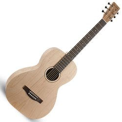 Simon and Patrick 038985 Trek Natural Parlor SG Isys t Acoustic Electric 6 String Guitar