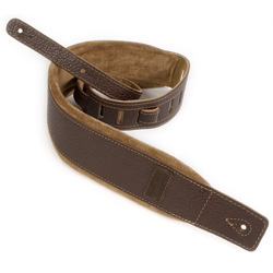 Godin 026098 Brown Leather/Tan Suede Guitar Strap