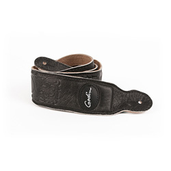 Godin 036905 Grey Western Print Padded Leather Strap w/Patch Logo