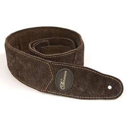 Norman 037056 Brown Paisley Padded Suede w/ Patch Logo