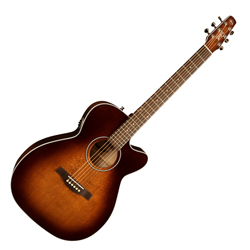 Seagull 041824 Performer CW CH Burnt Umber QIT Acoustic 6 String Guitar