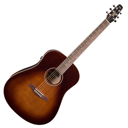Seagull 041831 S6 Original Burnt Umber QIT Acoustic Electric 6 String Guitar