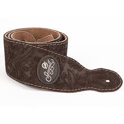 Seagull 037148 Brown Paisley Suede Strap w/Patch Logo