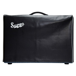 "Supro VC12 Black Vinyl Amp Cover w/Logo - 1x12""/2x10"""