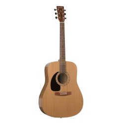 Simon and Patrick 028986 Woodland Cedar Left Handed Acoustic Electric 6 String Guitar