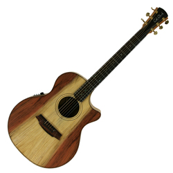 Cole Clark CCAN2EC-RDMAH Grand Audtrm Guitar w/ Pickup & Ctwy-Redwood/Mahogany