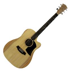 Cole Clark CCFL1EC-BB Dreadnought Guitar w/PU & Cutaway-Bunya/Blackwood