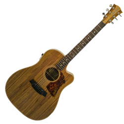 Cole Clark CCFL2EC-BLBL Dreadnought Guitar w/PU & Cutaway-Blackwood/Blackwood