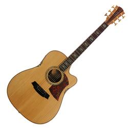 Cole Clark CCFL3EC-BMS Dreadnought Guitar w/PU &Cutaway-Bunya/Maple-Silkwood