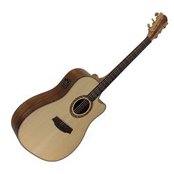 Cole Clark CCTalisman II Dreadnought Guitar w/PU & Cutaway-Bunya/Blackwood