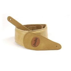 Simon & Patrick 036844 Tan Padded Suede w/Patch Logo Guitar Strap