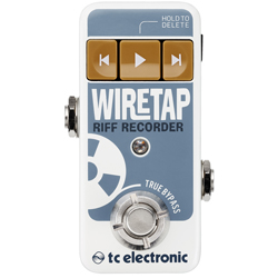 TC Electronic Wiretap Riff Recorder Bluetooth Enabled Guitar Pedal