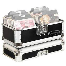Odyssey K45120BLK Black KROM 7 Inch Vinyl/Utility Case Holds up to 120 Records