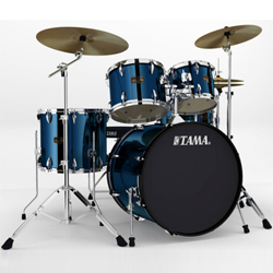 "Tama IP52KH6HCMNB Imperial Star 22"" 5pc Drum Kit with Meinl HCS Cymbals in Midnight Blue"
