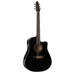 Seagull 034208 Entourage Black CW GT QI Acoustic Electric 6 String Guitar