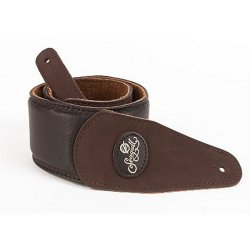 Seagull 036851 Brown Padded Suede Guitar Strap w/Patch Logo (discontinued clearance)