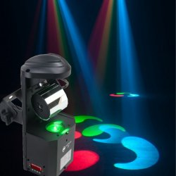 American DJ INNO-POCKET-ROLL LED Mirrored Barrel Scanner- 12W with 8 fixed gobo & colors