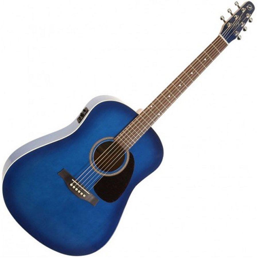 Seagull 039319 S6 Spruce Trans Blue Burst GT Acoustic 6 String Guitar