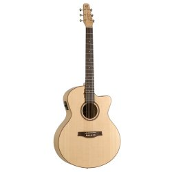 Seagull 036462 Amber Trail CW Mini Jumbo SG T35 Acoustic Electric 6 String Guitar
