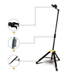 Hercules GS415B Auto Grip guitar stand with foldable yoke