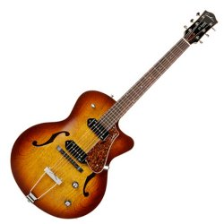 Godin 032327 5th Avenue CW Kingpin 2 Cognac Burst 6 String Hollowbody Electric Guitar with TRIC CASE