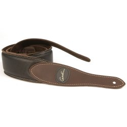 Godin 036998 Brown Padded Leather & Suede Guitar Strap w/Patch Logo