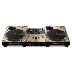 Pioneer DJ DJM-PLX-GOLD-RIG Bundle with Djm-s9 & 2x Plx1000 Mixer & Turntable