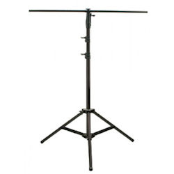 American DJ LTS-10B 10 Foot Black Steel Stand with T-Bar -100lb Rated